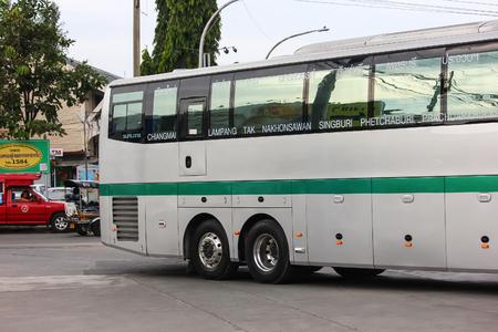 Chiangmai, Thailand - October 2 2012: Sunlong 15 Meter bus of Greenbus company Route Chiangmai to Phuket.