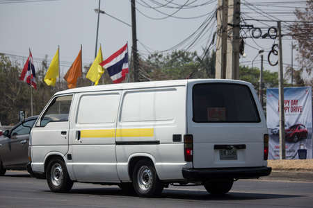 Photo for Chiangmai, Thailand - March  6 2020: Private Toyota Hiace old Van Car. On road no.1001, 8 km from Chiangmai city. - Royalty Free Image
