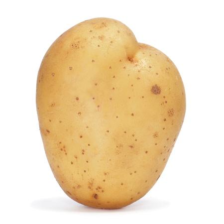 closeup of a potato on a white background