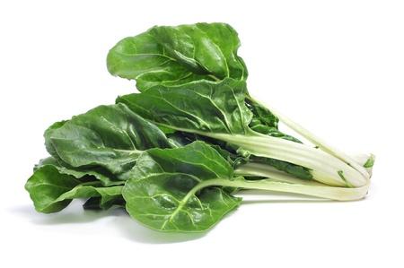 Photo pour chard leaves on a white background - image libre de droit