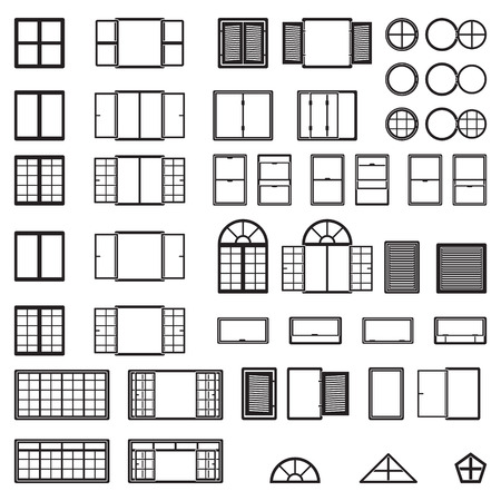 Illustration pour Windows icon set. Window types set. Vector. - image libre de droit