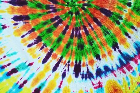 Photo for colorful draped tie dyed fabric textile pattern background - Royalty Free Image
