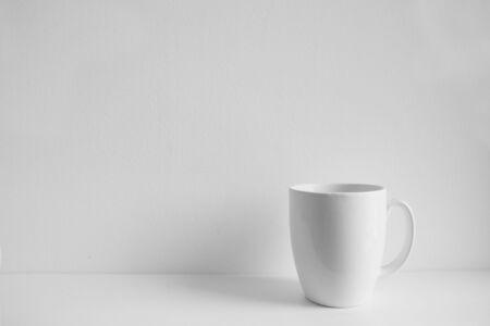 Photo pour photorealistic white cup on white background - image libre de droit