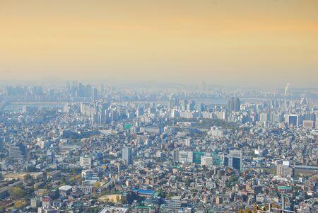 Photo pour Cityscape top eye view of Seoul, Southe Korea - image libre de droit