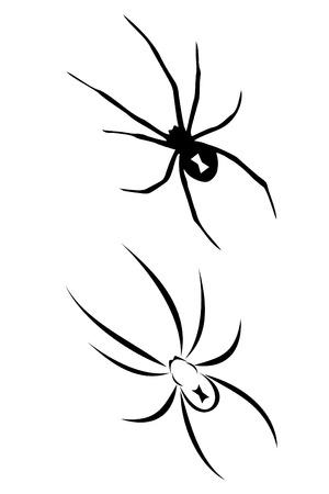 A Black widow spider tribal tattoo