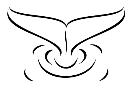 A tribal whale tail tattoo