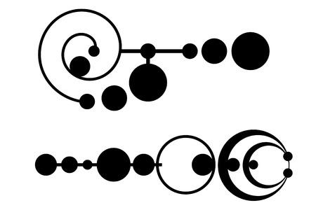A Tribal crop circle tattoo set