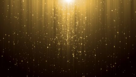 Photo for abstract particle award with glitter effect on dark background - Royalty Free Image