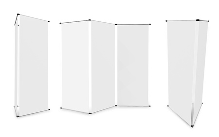 blank banner stand display