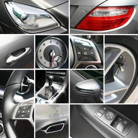 Luxury car details collage