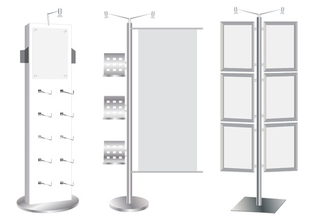 Blank Promotion Stand set  Vector template