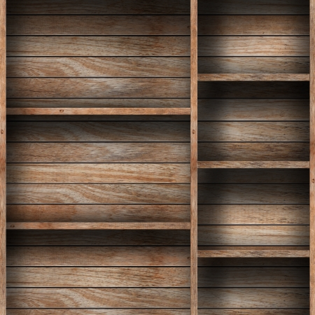 Empty wood shelf  grunge industrial interior Uneven diffuse lighting version  Design component