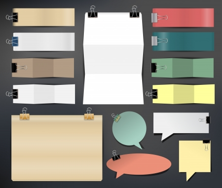 Collection of various papers, illustration template design