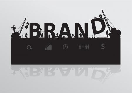 Construction site crane building brand text idea concept, Vector illustration template design