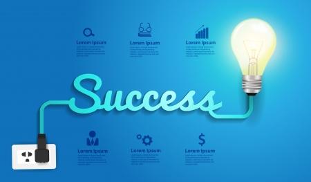Success concept creative modern design template