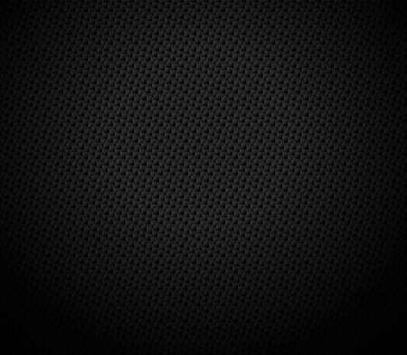 Ilustración de Vector Abstract black hexagonal background, 3D illustration in a4 size design - Imagen libre de derechos