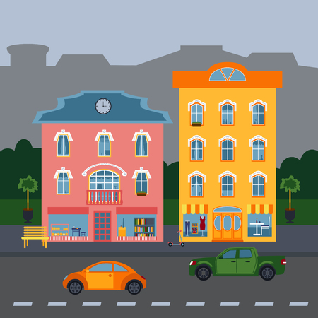 Illustration for colored houses - Royalty Free Image