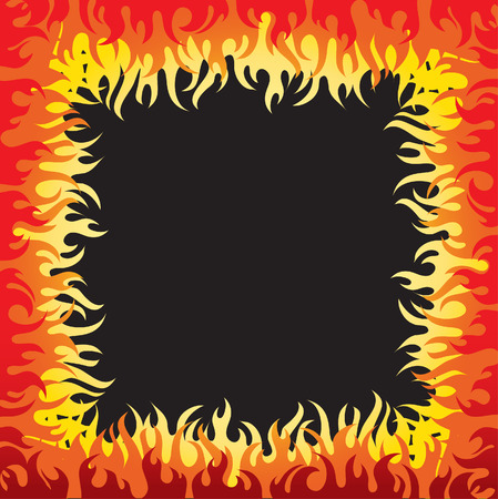Vector beautiful frame background with fire (from my big