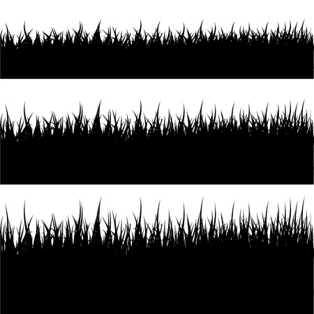 Illustration for Grass Silhouette - Royalty Free Image