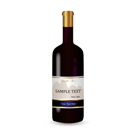 Illustration of a wine bottle isolated on a white background.