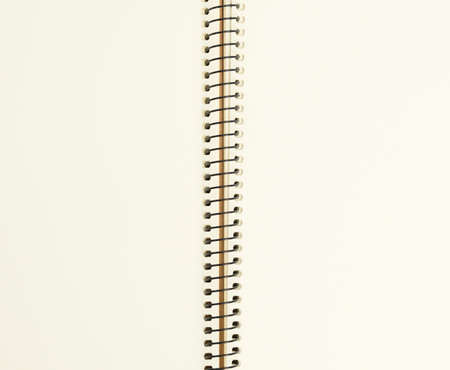 Photo for open spiral notebook with blank white sheets, copy space - Royalty Free Image