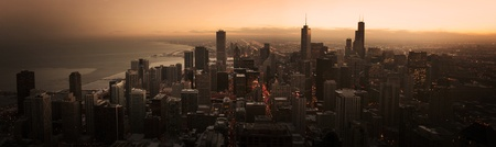 Chicago Sunset Panorama