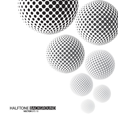 Illustration pour Black dots halftone background can be use for pattern, backdrop, wallpaper, surface. the text can be added - image libre de droit