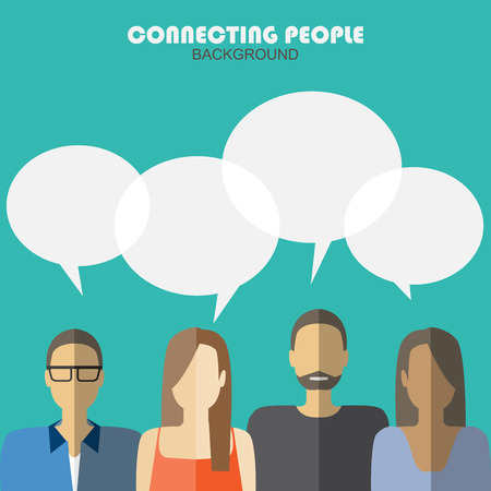 Photo for communication background, connecting people - Royalty Free Image