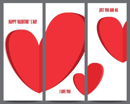 Ilustración de valentine' s day invitation and greeting card template. heart, can be use for gift voucher, customer sale promotion, layout, banner, web design.wedding invitation. vector illustration - Imagen libre de derechos