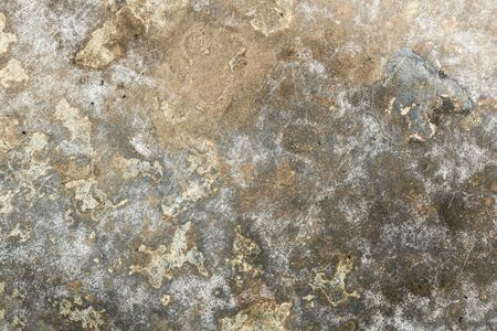 Photo pour texture of old rumpled shabby metal surface, close-up abstract background - image libre de droit