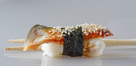Japan food - sushi isolated on a white background