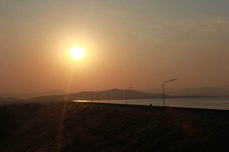 dam trip sunset