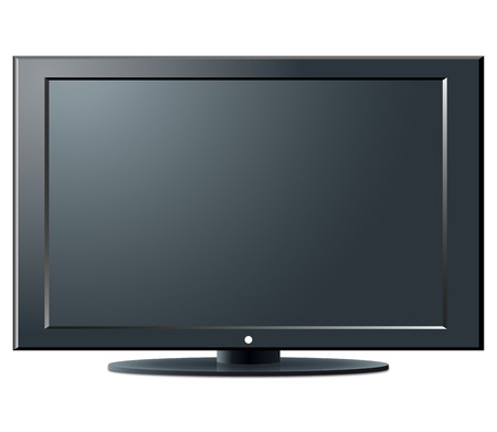 LCD TV set - an illustration for your design project.