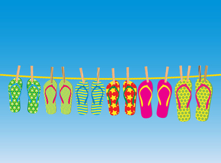 Flip-flops on a rope - an illustration for your design project.