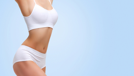 Photo for Closeup shot of beautiful sexy female body. Liposuction, diet and healthy lifestyle, weight loss concept - Royalty Free Image