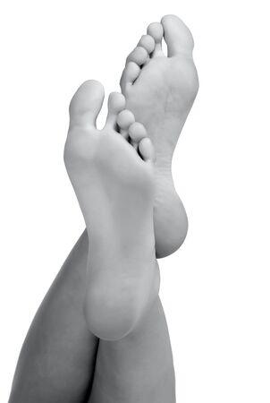 Photo for Female bare feet on white background - Royalty Free Image