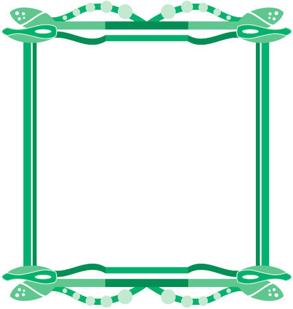 abstract framework in different shades of green