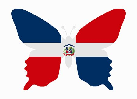 dominican rep flag butterfly