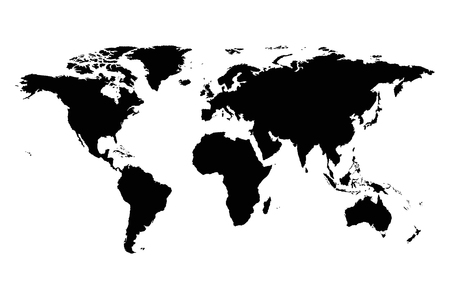 world map silhouette