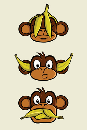 The three wise monkeys from the proverb