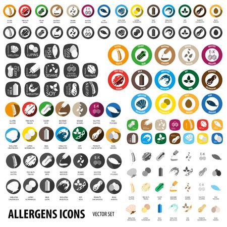 Illustration pour Allergens set for big business - image libre de droit