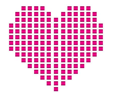 Red love heart shape