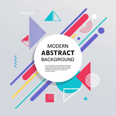 Illustration pour Abstract circle with badge geometric pattern design and background. Use for modern design, cover, decorated, flyer and  template. - image libre de droit