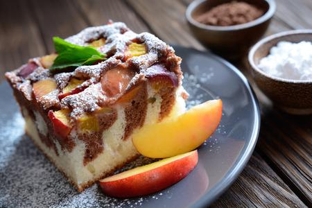 Nectarine sponge cake