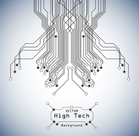 Ilustración de circuit high tech  board background - Imagen libre de derechos