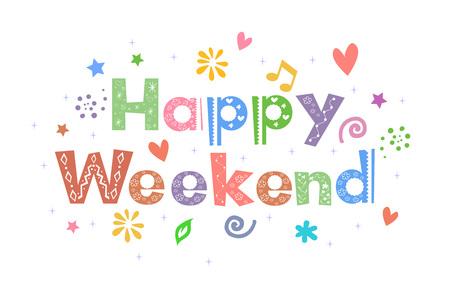 Happy Weekend Message for card design:: tasmeemME.com