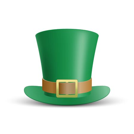 Illustration for Green St. Patrick's Day hat isolated on white background, vector illustration - Royalty Free Image