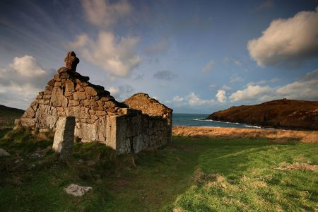 The ancient small place of worship on Cape Cornwall is called St Helens Oratory it is an early example of Christian worship, although sadly now it is no longer in use, it is cared for by the National Trust.