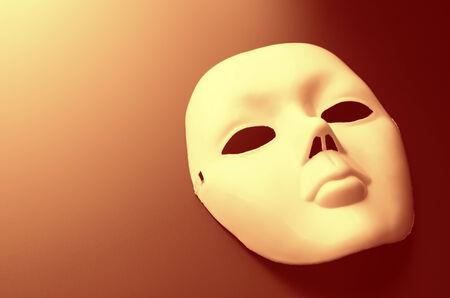 Closeup of theater mask. Toned image