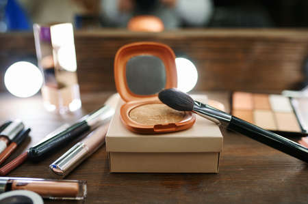 Photo for Makeup cosmetic collection closeup, nobody - Royalty Free Image